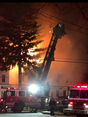 Several departments battled a blaze in Mount Vernon