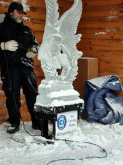 Ice sculptures will be on display Saturday and Sunday