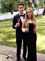 "Classmates Joao Souza and Danielle Goz went to their 2017 Blind Brook High School senior prom together. Goz said of Souza, who was slain at Binghamton University on April 15, 2018: ""He was the sweetest kid I've ever known and was always there for me."""