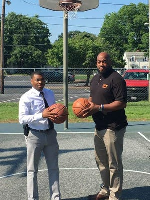 Gary Tucker (left) and Shawn Tucker (right) enter their 19th year running the Eastern Shore Basketball League.