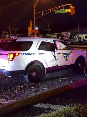 Washington Township police Sgt. Michael Ferris is recovering from injuries he suffered after suffering an electric shock at a crash scene in which his car also was struck.
