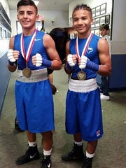 Emanuel Carrillo and Emmanuel Moreno of Fallstown Boxing