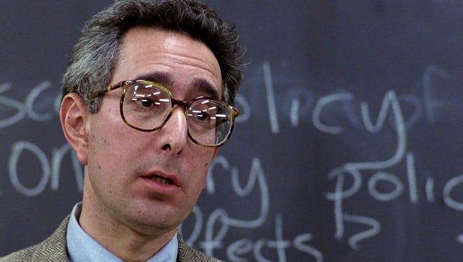 "Ben Stein as the economics teacher in a scene from the 1986 John Hughes classic ""Ferris Bueller's Day Off."""