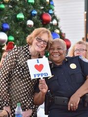 Fort Pierce Mayor Linda Hudson and Fort Pierce Police