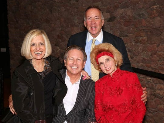 From left, presenting gold sponsors Helene Galen and Jamie Kabler with Kevin Parker and Diane Deshong.