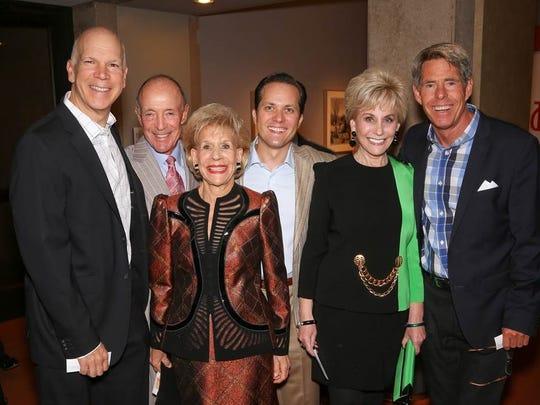 From left, David Zippel, Jerry Keller, presenting diamond sponsor Annette Bloch, Andrei Muresan, Barbara Keller, and Michael Johnston