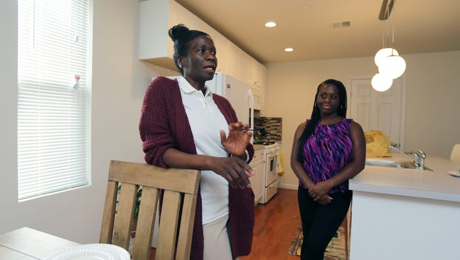 Arlene Whiteman and her daughter Jackie Mckenly are pictured in their new three-bedroom at the Waterwheel Condominium on Saw Mill River Road in Ardsley, April 20, 2017.