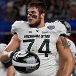 Michigan State offensive tackle Jack Conklin could be in play for the Titans with the 15th overall pick in the NFL draft.