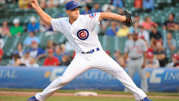 Michael Bowden pitched two seasons out of the bullpen for the Chicago Cubs, in 2012 and 2013. He signed with the Red Wings on Saturday.