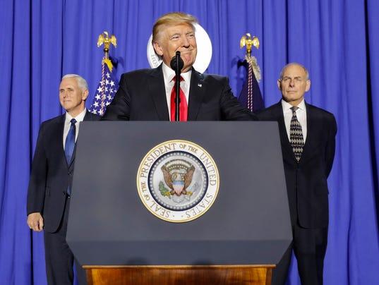 Donald Trump, John F. Kelly, Mike Pence