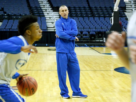 NCAA Basketball: NCAA Tournament-Buffalo Practice