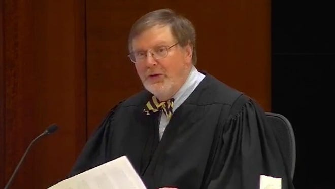 U.S. District Judge James L. Robart presides during State of Washington vs. Donald J. Trump, et al on Feb. 2, 2017 at the Seattle Federal Courthouse. Judge Robart ordered a national halt to President Trump's travel ban on people from seven, mainly Muslim, countries.