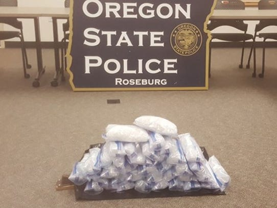 Oregon State Police seized 45 pound of meth in August