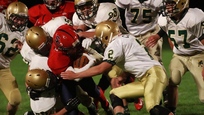 Colby and Spencer/Columbus Catholic renew their Cloverbelt Conference football rivalry Friday in Spencer.