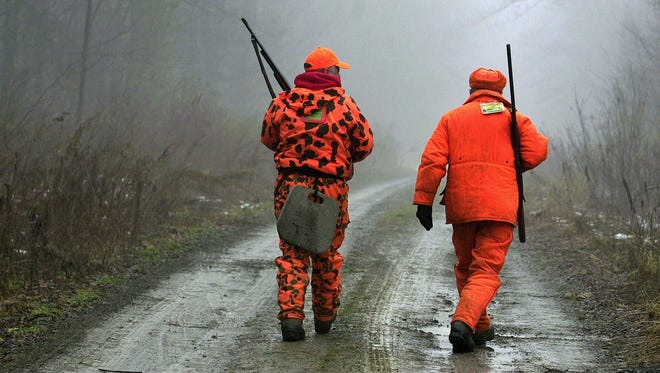 A pair of Southern Tier hunters heads into the woods to hunt deer.