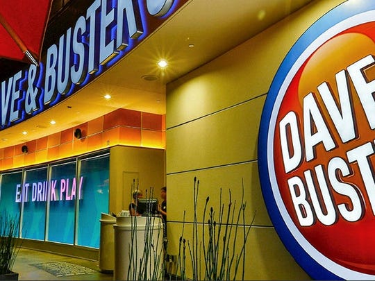 The entrance to a Dave & Buster's