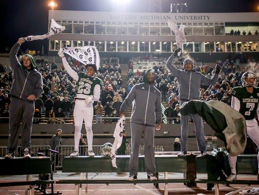 Photos: Despite winning season, future of EMU football questioned