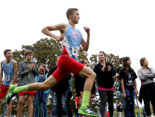 The Greater Valley Conference district boys cross country