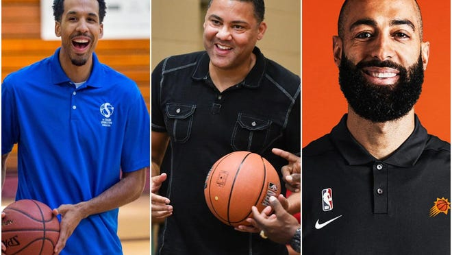 Peorians Shaun Livingston, left, David Booth, middle, and Brian Randle, right, have helped the River City make a new name for itself on the NBA's coaching and executive levels.