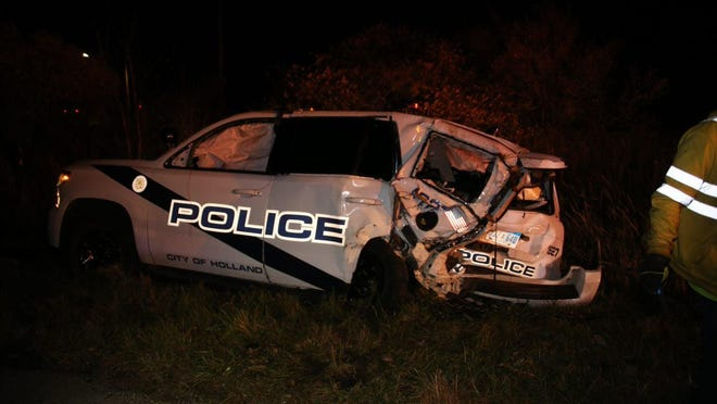 A Holland police car was struck by a drunk driver on Saturday, Nov. 7.
