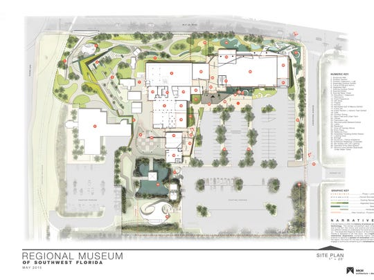 A site plan for an expanded and renovated Imaginarium combines the Southwest Florida Museum of History in one location on Martin Luther King, Jr. Boulevard near McCollum Hall. The two museums were drawn into the City of Fort Myers' new Midtown planning area, which will help them qualify for funds to rebrand and refresh the space.