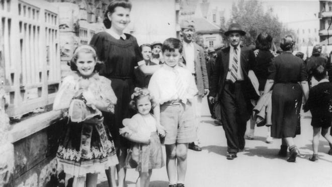 Madeleine Albright, left, in Belgrade, Serbia, where the future U.S. secretary of State spent much of her childhood.