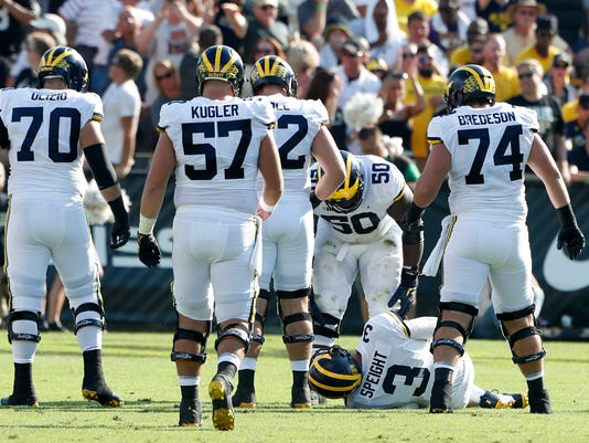 michigan offensive line, michigan wolverines purdue boilermakers