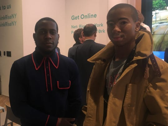 Keenan Alves (left) and Bryant Law attend Blockchain in the State of Delaware on Jan. 24. They are founders of a blockchain-based job search company