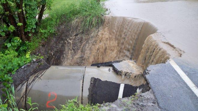 Flooding in Honeoye on June 14, 2015.