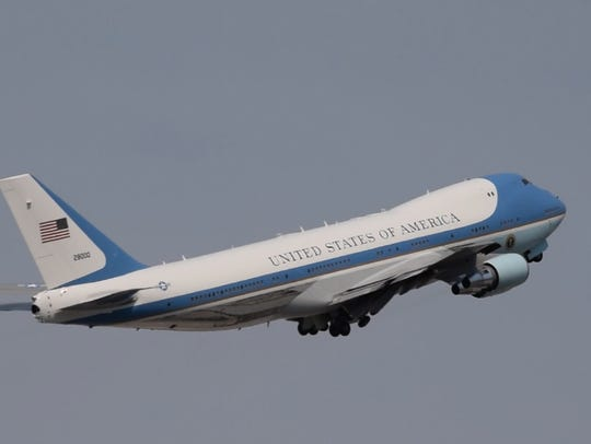 Air Force One departs June 21.
