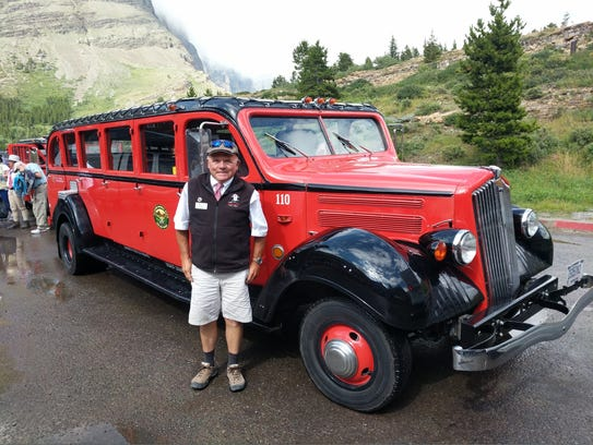 Glacier National Park is famous for its 1930s open-air