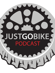 JustGoBike podcast is available on Itunes, Stitcher