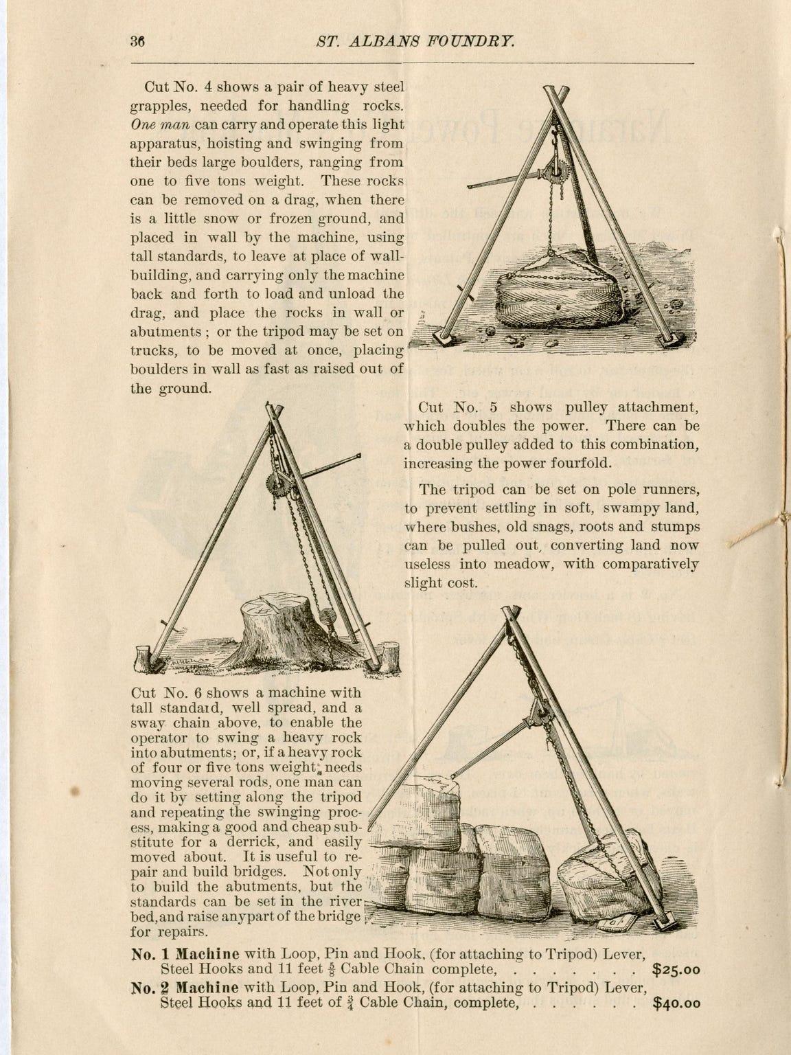1885 St. Albans Foundry catalog