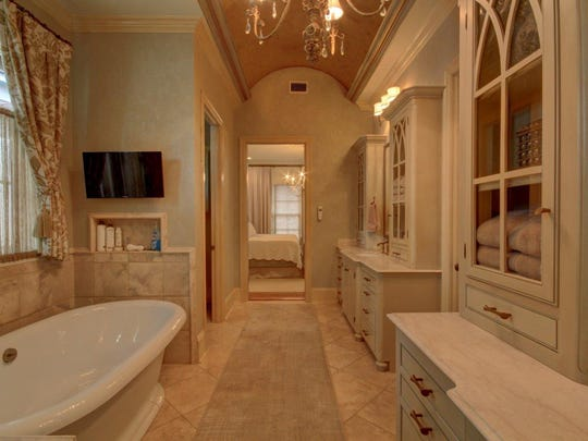 A spa like bath accompanies the master suite.