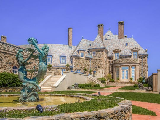 This seaside castle in Newport, RI has 14 bedroom and sits on 9 acres of oceanfront property.