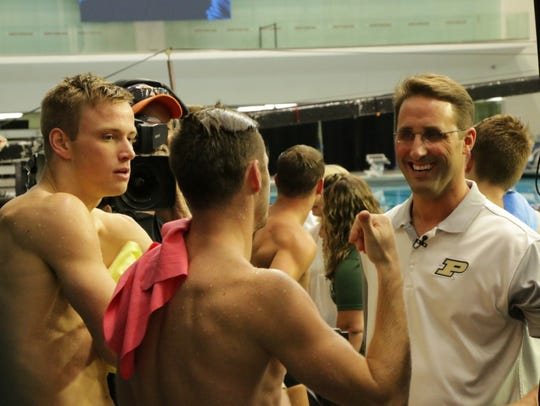 Purdue and U.S. Olympic Diving coach Adam Soldati with