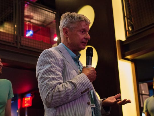 Gary Johnson appeared at a local bar on Thursday, hoping