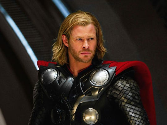 "Chris Hemsworth from the 2011 Kenneth Branagh film ""Thor."""