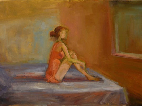 """""""Hopper Lily"""" is by Wichita Falls artist Vickie Milam."""