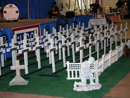 Crosses bearing the names of Taylor County Vietnam veterans who have died were on display at the 30th annual Tet Reunion at the Taylor County Expo Center.