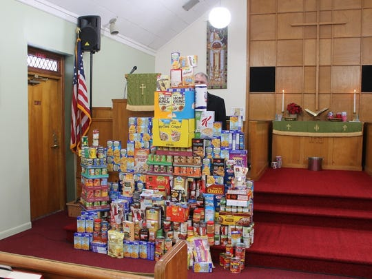 Food collected for the Newfield and Reynoldsville Food