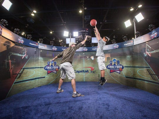 The Final Four Fan Fest is designed to engage toddlers on up until teens and beyond.