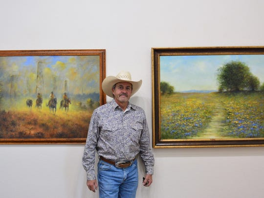 Bobby Dove, the owner of Dove's Jewelers, is also known for his paintings. He paints sports scenes but also landscapes, florals and Western-themed works. His paintings are on display at the Kemp Center for the Arts.