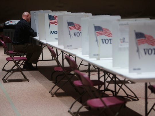 Voting was under way early at Glendale Christian Church.
