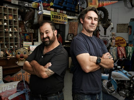 "Frank Fritz and Mike Wolfe of ""American Pickers."""