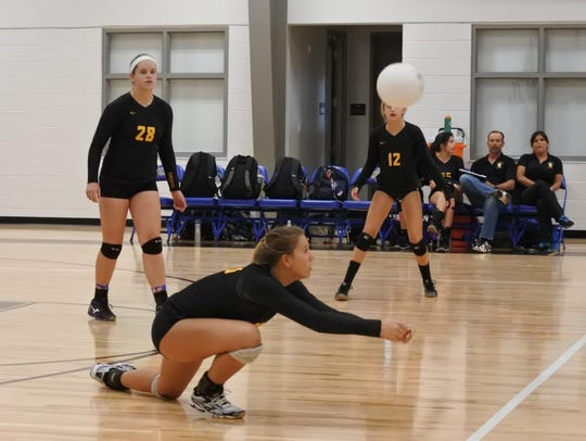 The Village School volleyball team went 18-1 in the
