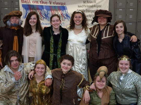 The Belt Valley Shakespeare players give a final performance