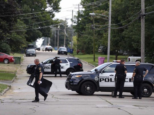 Police have surrounded a house in northwest Springfield