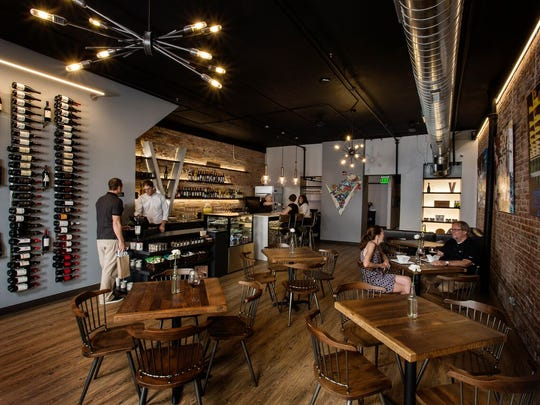 Kelly Sharp opened Vino 209 last year on Fifth Street in Valley Junction.