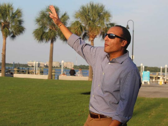 Michael Moore, president and CEO of the proposed International African American Museum, is shown standing on the site where the museum will be built near Charleston harbor.